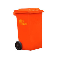 Blue And Green 90 Liter Dustbin Wheeled