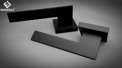 Aero Wing Matt Black Lever Handle