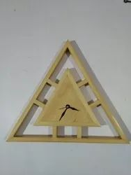 Triangular Wooden Wall Clock