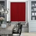 Polyester Red Vertical Window Blinds