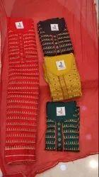 Unstitched Jari Work Suit On Cambric