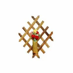Wooden Square Bamboo Flower Wall Hangers for Decoration