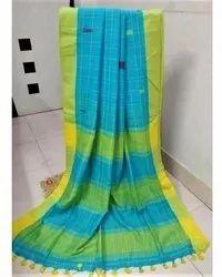 Handloom Khadi Cotton Check Sarees