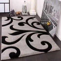 Polyester Rectangular Designer Room Carpet, Size: 80x100cm