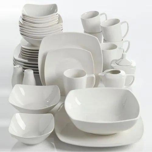 Porcelain Buffetware Dinnerware Set, Packaging Type: Box, 36 Piece