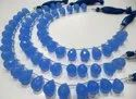 Blue Chalcedony 10x14mm Tear Drop Hydro Quartz