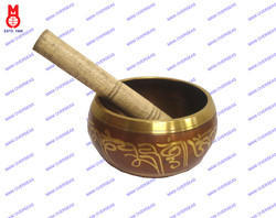 Nepali Singing Bowl Brown Patina