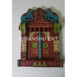 Wooden Rajasthani Jharokha Window Frame