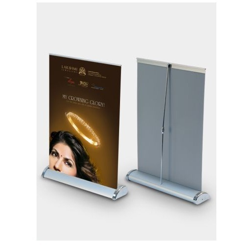 1d182b56abd34a A4 Mini Roll Up Stand, For Showroom And Shopping Mall, Rs 350 /piece ...
