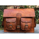 Goat Leather Laptop Office Bag
