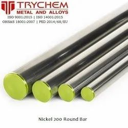 Nickel 200 Round Bar UNS N02200 Round Bar