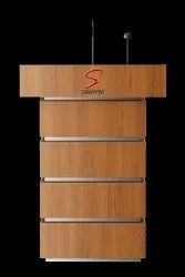 Saatvik Open Shelf Wooden Podium SP-522