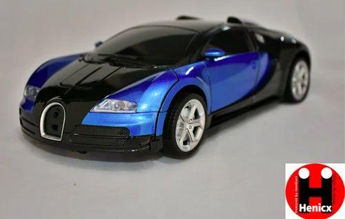 henicx - 1:14 bugatti rc car robot deformation car one button 2.4ghz