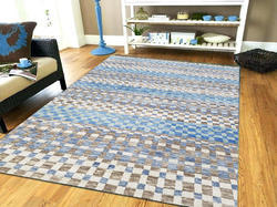 Modern Living Area Hand-Knotted Center Rugs