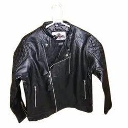 Full Sleeve Sheep Leather Stylish Black Biker Jacket