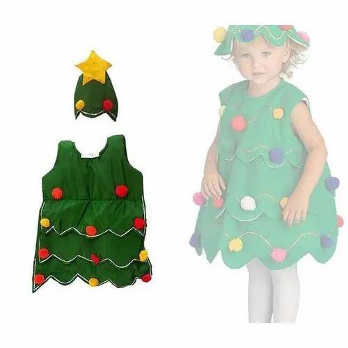 Cotton Sleeveless Christmas Tree Costume Size M Rs 500 Set Id