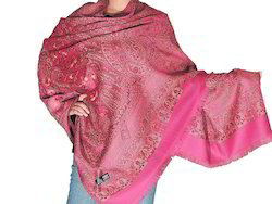 Ladies Embroidered Woolen Shawl