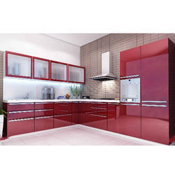 Mdf And Plb Kitchen Cabinets