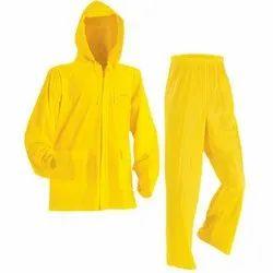 Yellow Polyester Rain Suit