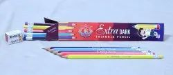 Black 5 colors Ruturaj Extra Dark Pencil, For Writing