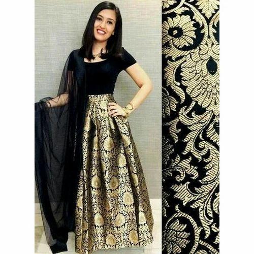 Golden And Black Ladies Fancy Dress Rs 1250 Piece Ritu Boutique
