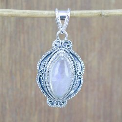 925 Sterling Silver Jewelry Rainbow Moonstone Wholesale Handmade Pendant Wp-6059