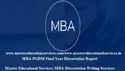 IMT-CDL,PGDP, MBA Final Year Project Report Service Provide