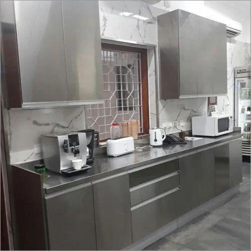 Residential Designer Stainless Steel Modular Kitchens, Warranty: 5-10 Years