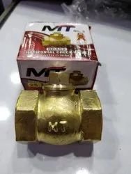 Horizontal Brass Check Valve