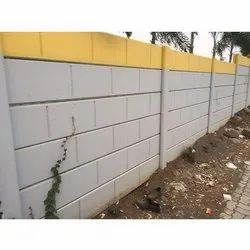 Concrete Block Compound Wall