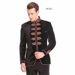Diwan Saheb DF-661 Mens Embroidered Bandhgala Blazer