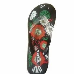 Mens Printed Rubber Slipper