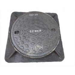 Cast Iron Manhole Cover with Square Frame