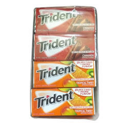 Fruit Flavor Trident Chewing Gum, Pack Size: 12 Chewing X18 Stick , Packaging Type: Box