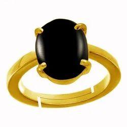Black Onyx Rings Gold Panchdhatu Gemstone