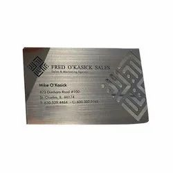 Stainless Steel Metallic Grey Business Card