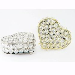 Heart Shaped Crystal Jewelry Box