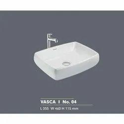 Ceramic Wall Mounted Vascra I No. 4 White Wash Basin