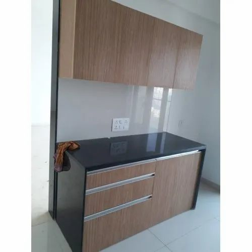 Marine Plywood Parallel Modular Kitchen, Warranty: 5-10 Years