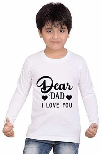 Kids Full Sleeve Sublimation T-Shirt, Quantity Per Pack: 5