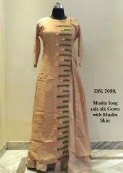 Carnation: Ladies Long Kurti With Skirt