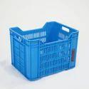 Blue Rectangular Fruit Plastic Crates, Capacity: 13 L