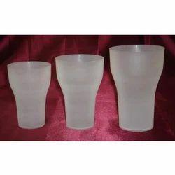 White Plastic Coke Glass Set Of 6, for Home