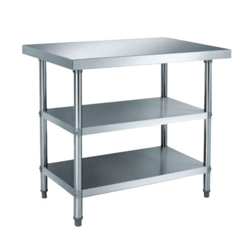 Stainless Steel Rectangular Kitchen Work Table, Size (feet ...