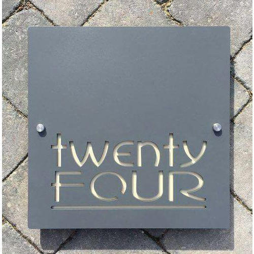 Acrylic Black Building Sign Board, Shape: Square