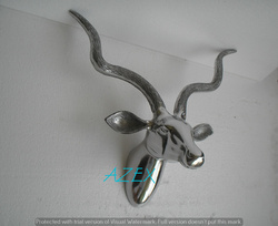 Wall Mounted Stag Head Statue Shiny Polished