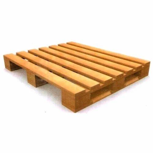 Rectangular Natural Wood 4 Way Pallet, Rs 450 /piece ...