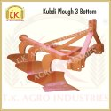 Mild Steel Kubdi Plough 3 Bottom, For Agriculture