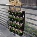 Manoj Plastic Black Decorative Vertical Garden Panel With Pot For Decoration