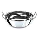 Stainless Steel Light Weight Kadhai, Size: Dia - 24 Cm, Height - 13 Cm, Material Grade: 202